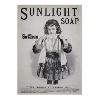 Sunlight Soap Laundry Poster