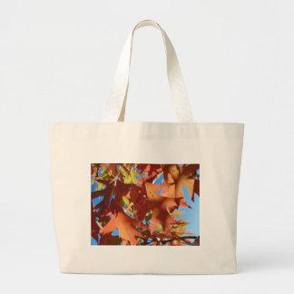 Sunlight Through Autumn Leaves Large Tote Bag