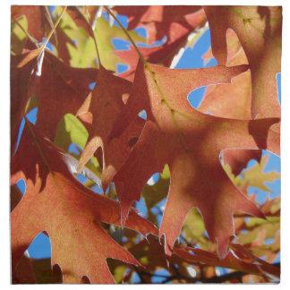 Sunlight Through Autumn Leaves Napkin