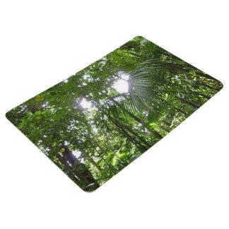 Sunlight Through Rainforest Canopy Tropical Green Floor Mat