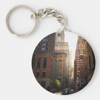 Sunlight Through Skyscrapers, New York City Keychain
