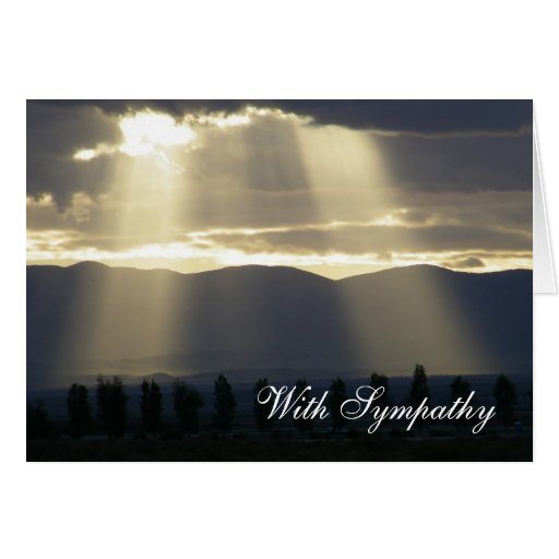Sunlight Through the Clouds Sympathy Card