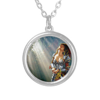 Sunlight Warrior Silver Plated Necklace