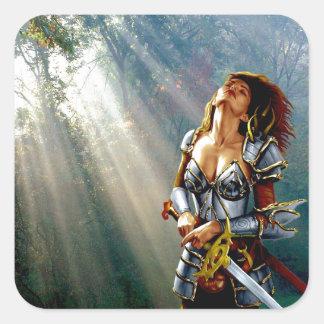Sunlight Warrior Square Sticker