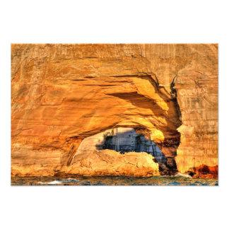 Sunlit arch, Pictured Rocks NL, Michigan Art Photo