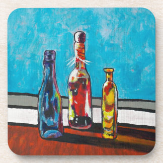 Sunlit Bottles Coaster