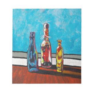 Sunlit Bottles Notepad