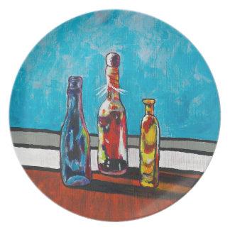 Sunlit Bottles Plate