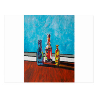 Sunlit Bottles Postcard