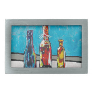 Sunlit Bottles Rectangular Belt Buckles