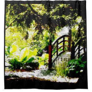 Sunlit Bridge shower curtain