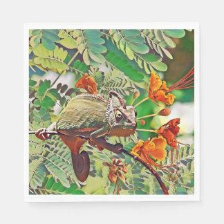 Sunlit Chameleon Disposable Napkins