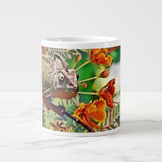 Sunlit Chameleon Large Coffee Mug