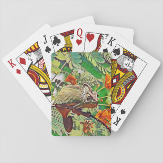Sunlit Chameleon Playing Cards