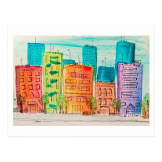 Sunlit City Postcard