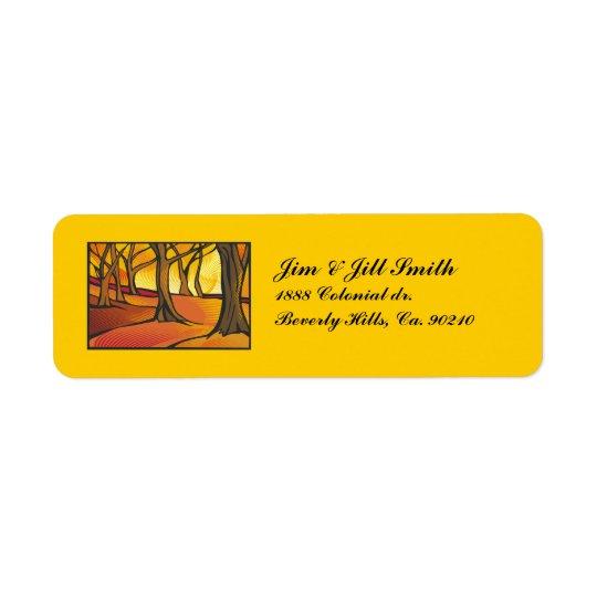Sunlit Forest Set Return Address Label