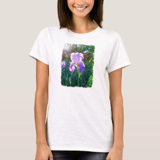 """Sunlit Iris"" (on white) T-Shirt"