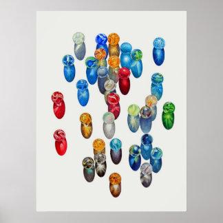 Sunlit Marbles Poster