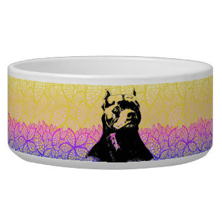 SUNLIT PIT BULL DOG BOWL BY ARA ARTIST