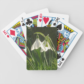 Sunlit Snowdrops Playing Cards