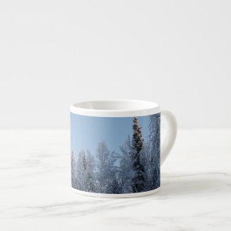 Sunlit Treetops in Winter Espresso Cup