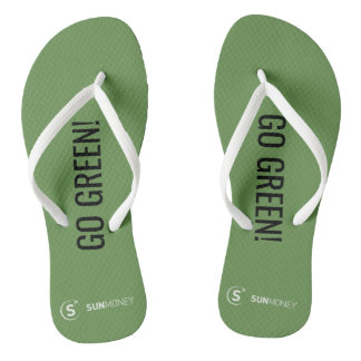 Sunmoney GO GREEN! Flip Flops