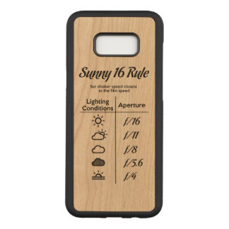 Sunny 16 rule carved samsung galaxy s8+ case