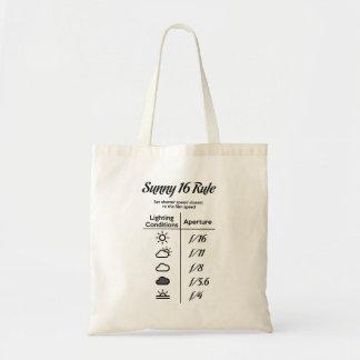 Sunny 16 rule tote bag