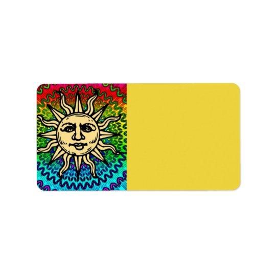 Sunny Address Label