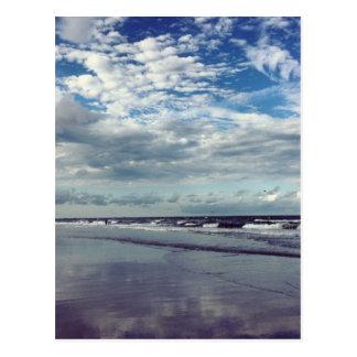 sunny beach day postcard