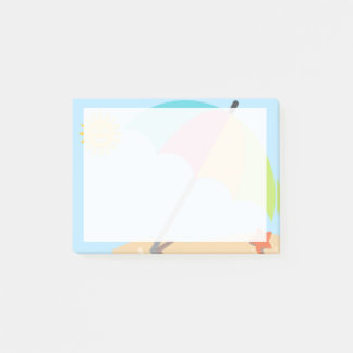 Sunny Beach Emojis Post-it Notes