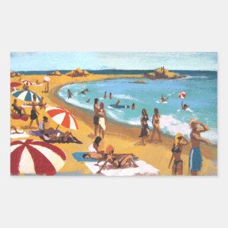 Sunny beach in Catalonia Sticker
