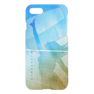 Sunny beach sand surf and sky women's volleyball iPhone 8/7 case