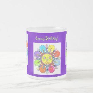 Sunny Birthday - Mug (frosted - purple)