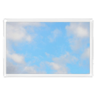 Sunny Blue Skies Everyday Staycation Photograph Acrylic Tray