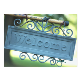 Sunny Blue Welcome Sign Invitation