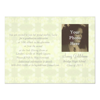 Sunny Bramble Flowers Photo Graduation 6.5x8.75 Paper Invitation Card