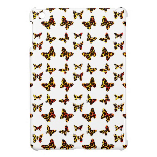 Sunny Bright Colors Leopard Spot Butterflies iPad Mini Covers