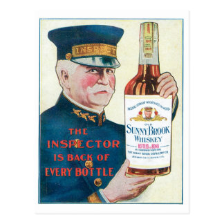 Sunny Brook Whiskey Vintage Drink Ad Art Postcard