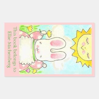 Sunny bunny bookplate sticker