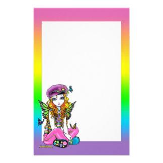 """Sunny"" Butterfly Rainbow Fairy Art Stationery"
