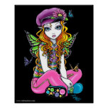 """""""Sunny"""" Candied Butterfly Rainbow Fairy Posters"""