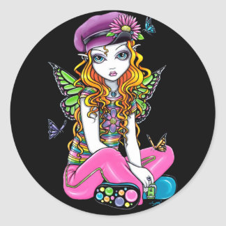 """""""Sunny"""" Candied Butterfly Rainbow Fairy Stickers"""