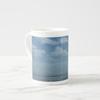 Sunny Caribbean Sea Blue Ocean Tea Cup