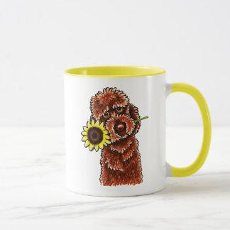 Sunny Chocolate Labradoodle Off-Leash Art™ Mug