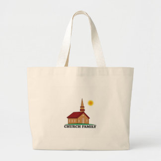 sunny church family large tote bag