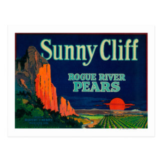 Sunny Cliff Pear Crate LabelMedford, OR Postcard