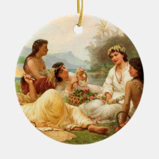 'Sunny Clime, Tahiti' - Nicholas Chevalier Ceramic Ornament