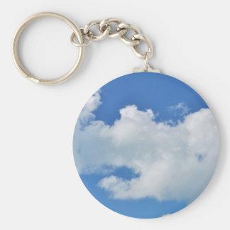 sunny cloud keychain