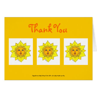 Sunny Daffodil - Note Card (Thank You)